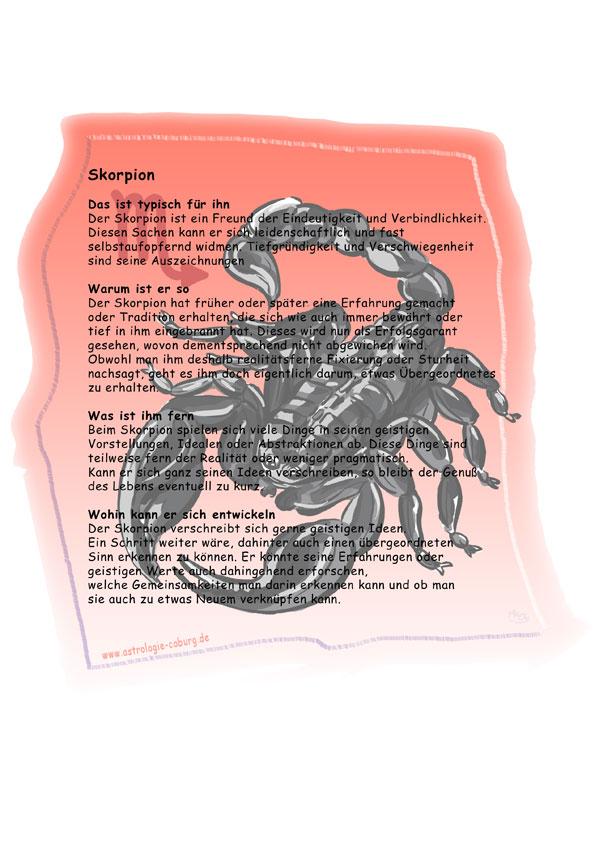 sternzeichen skorpion eigenschaften